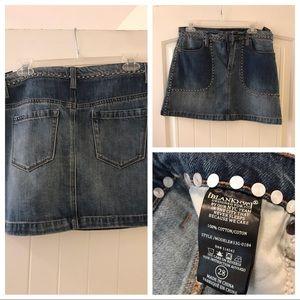 BLANKNYC studded mini jean skirt